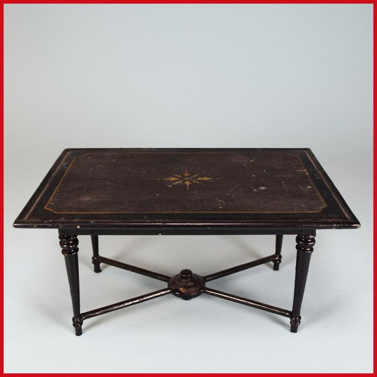 Antique German Dollhouse Rock U0026 Graner Center Table From The Rothenburg Toy  Museum U2013 Large Scale