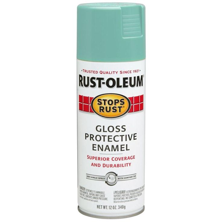 Rust-Oleum Stops Rust 12 oz. Gloss Light Turquoise Protective Enamel Spray Paint-284678 - The Home Depot
