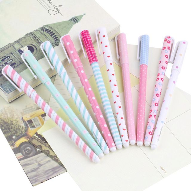 10 sztuk/partia cute cartoon kolorowe gel pen kawaii koreański piśmienne kreatywny prezent szkolne hurtownia