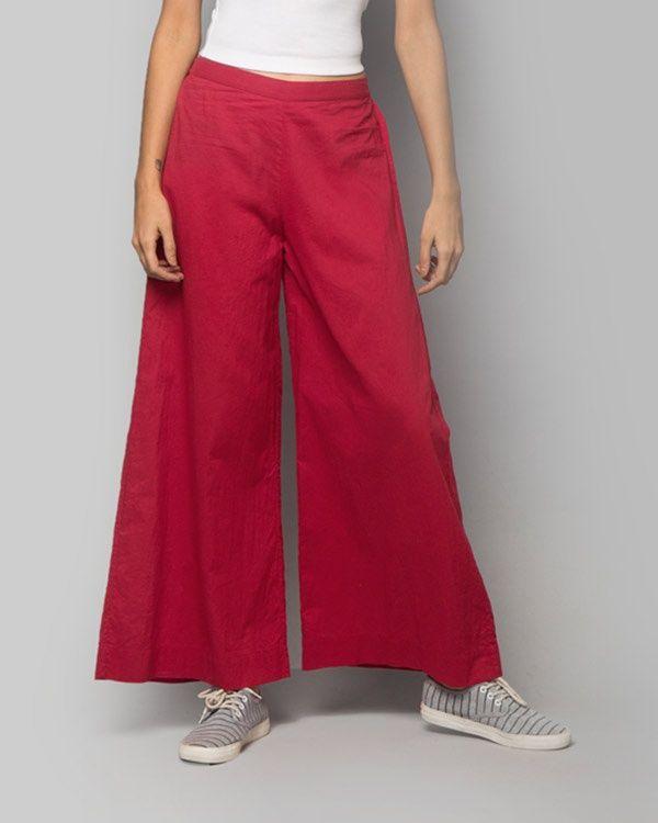 NICOBAR Cotton Trouser - Red
