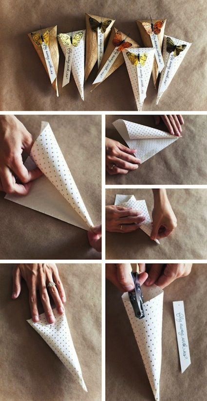 Make your own cute candy bags.