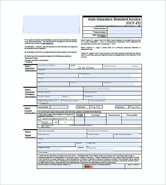 Best Insurance Claim Invoice Template In 2021 Invoice Template Invoice Example Best Insurance