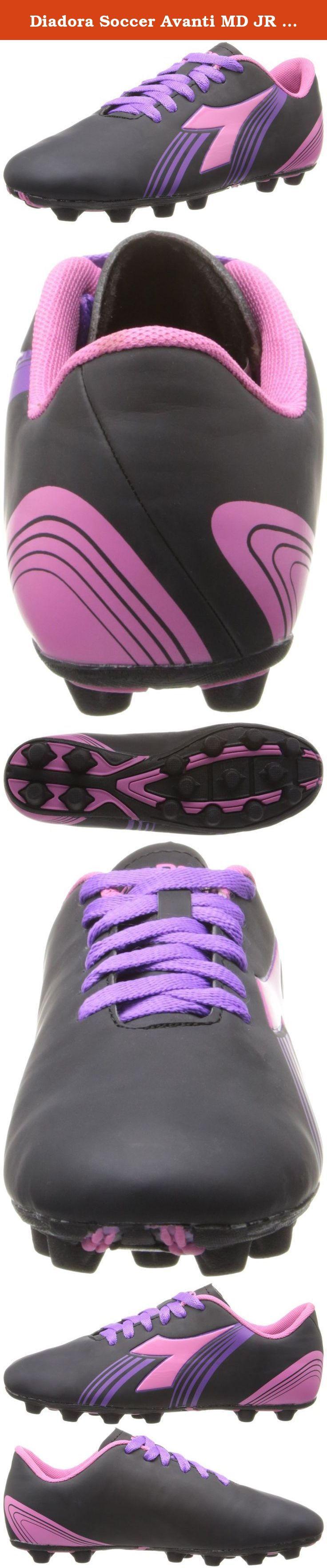 Diadora Soccer Avanti MD JR Soccer Shoe (Toddler/Little Kid/Big Kid),Black/Pink/Purple,8 M US Toddler. Dimensions: 4.5 Yth Sport: Field Hockey Sport: Lacrosse Sport: Soccer Width: Medium.