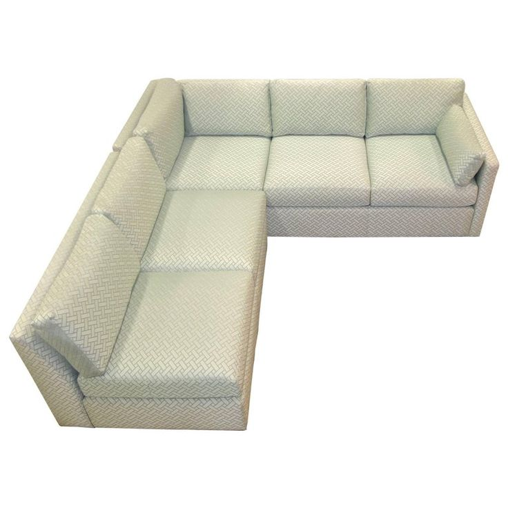 Milo Baughman Style Two-Piece Sectional Sofa L-Shaped | From a unique collection of antique and modern sectional sofas at https://www.1stdibs.com/furniture/seating/sectional-sofas/