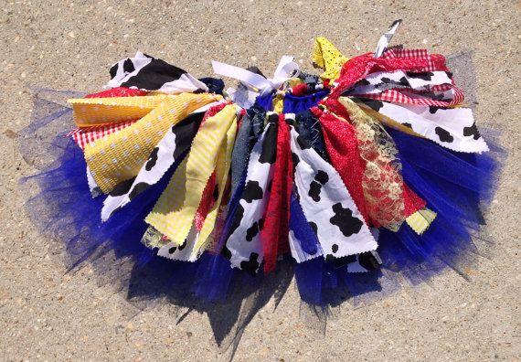 Inspired by Toy Story Tutu, cowgirl tutu, Jessie tutu, extra full shabby chic cowgirl tutu