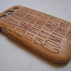 Samsung Galaxy S3 case - wooden walnut / cherry or bamboo - Art should