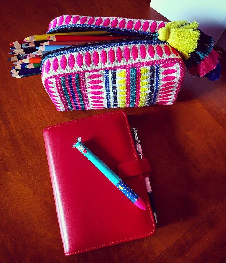Bellissima la colorata pochette comprata da Oviesse l'altro giorno.... la utilizzo per riporre le le matite colorate!  #portamatite #pochette #astuccio #matitecolorate #pochette #oviesse #pencilbox #filofax #coloredpencil #agenda #organizzazione #planner #planning by annamarg5