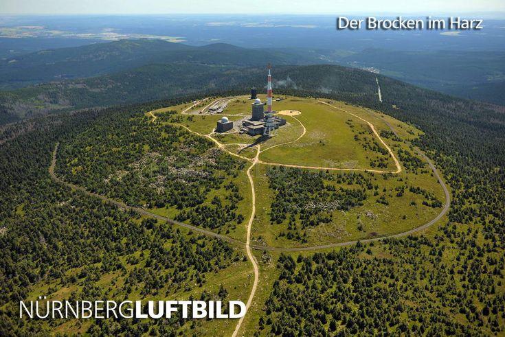 Der Brocken im Harz, Luftaufnahme
