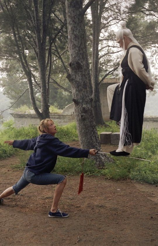 "Uma Thurman and Gordon Liu (AKA Chia Hui Liu) in ""Kill Bill: Volume 2"" (2004). DIRECTOR: Quentin Tarantino."