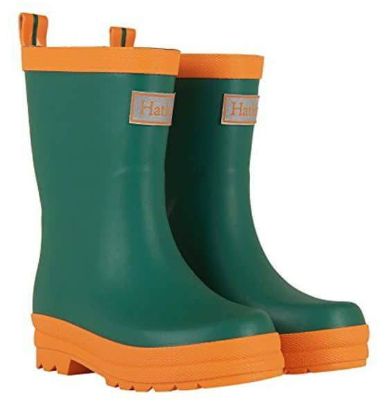 Green Hatley Rain Boots For Kids. 15+ Rain Boots for Kids. Spring rain boots for kids. Bright colored rain boots for kids. www.madewithhappy.com