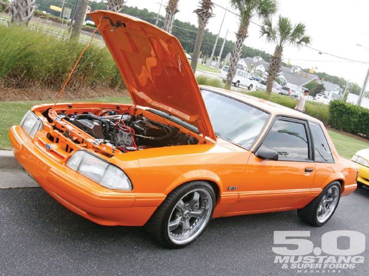 Mustang Week South Carolina | 2010 Mustang Week Myrtle Beach South Carolina Orange Fox Body Mustang ...