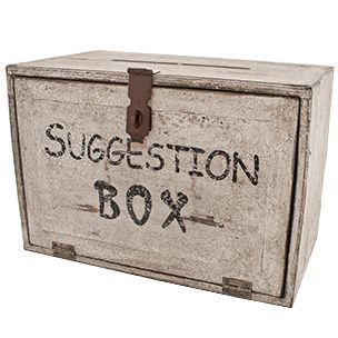 I leave my self suggestion notes all the time :)   Distressed Wood Suggestion Box | Rain Collection