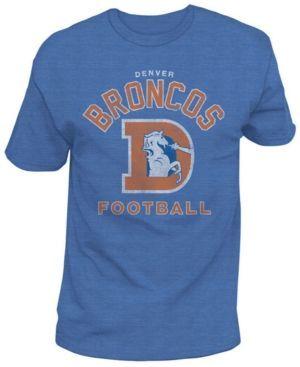 Authentic Nfl Apparel Men's Denver Broncos Midfield Retro T-Shirt - Blue XXL