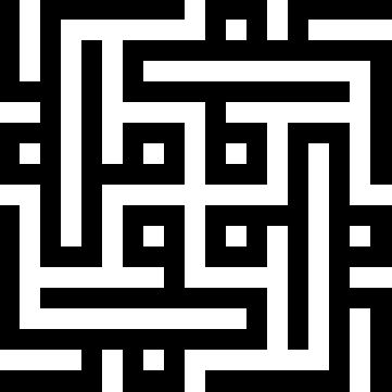 Geometric Kufi script showing four instances of the name Mohammed. This is often used as a tile-work pattern in Islamic architecture.