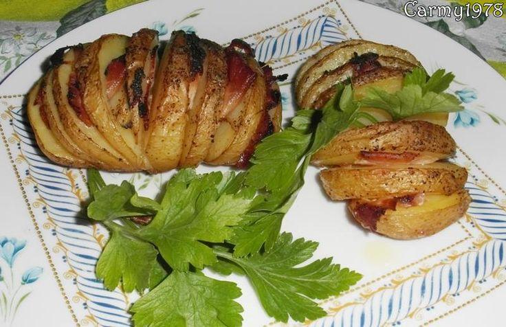 patate a ventaglio, patate al forno ripiene