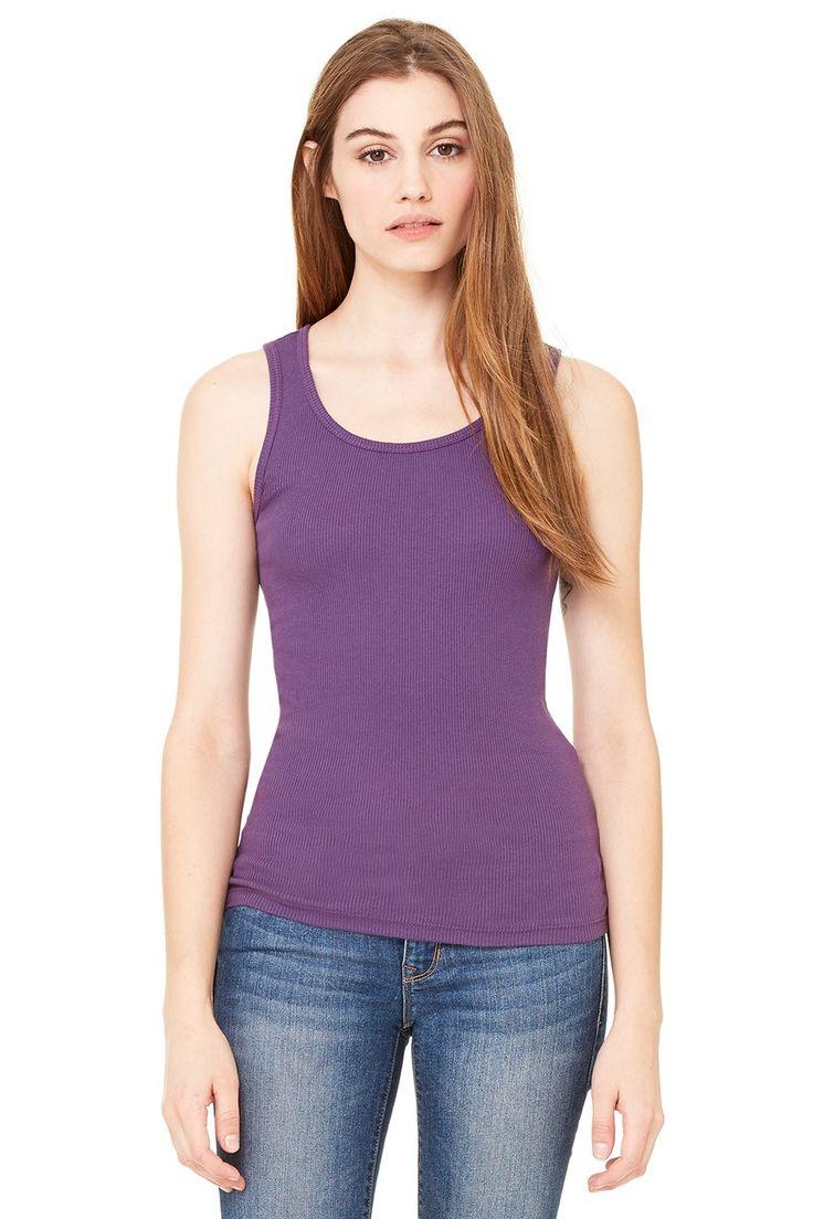 Zara Yoga Studio |LA| Women's 2x1 Rib Tank (Small /Purple). This classic women's tank has superb stretch and softness// Yoga Clothing // Discount Yoga Apparel // Yoga Apparel Brand // Bikram Yoga Apparel. 100% combed and ring-spun cotton, 30 single 5.8 oz/yd2// Discount Yoga Clothes // Yoga clothes brand // Hot Yoga Clothes // Yoga Clothes Clearance // Bikram Yoga Clothes. (Athletic Heather made from 90% combed and ring-spun cotton 10% polyester.) Features: 2x1 rib// Fitness Clothing…