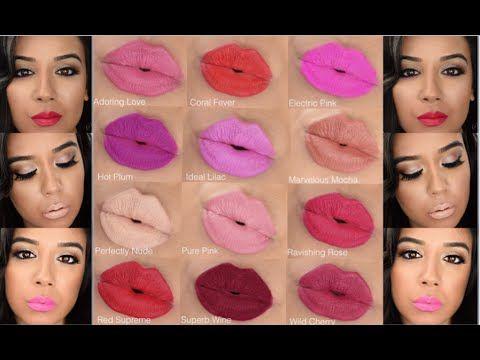 Take a LOOK at the different Avon Matte Lipsticks. Avon Matte Lipsticks Swatches www.youravon.com/lrubalcaba #MatteLipstick #AvonMatte Avon