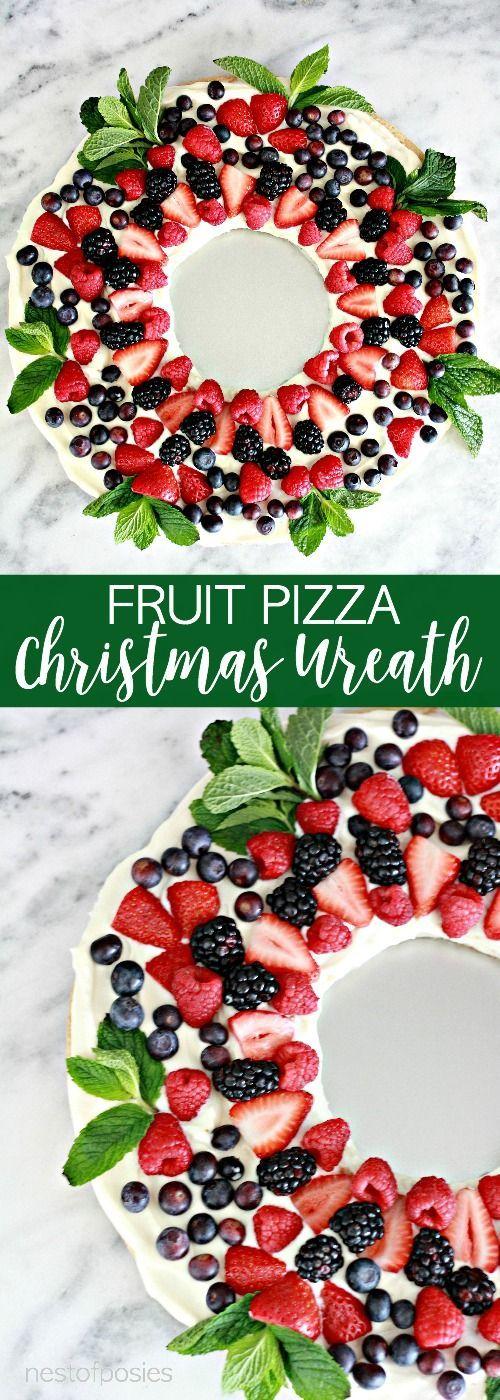 Fruit Pizza Christmas Wreath | Nest of Posies | Bloglovin'
