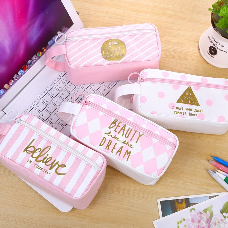 2017 New Arrival Fresh Style Cute Pink Canvas Pencil Case Large Capacity Stationery Pencil Bag Box School Supplies Pencilcase-in Pencil Cases from Office & School Supplies on Aliexpress.com | Alibaba Group