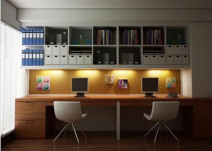 contemporary home office for two - Hľadať Googlom