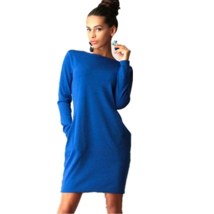Boho женщины совок шеи багги карманный платье хитон спортивные бег толстовка…