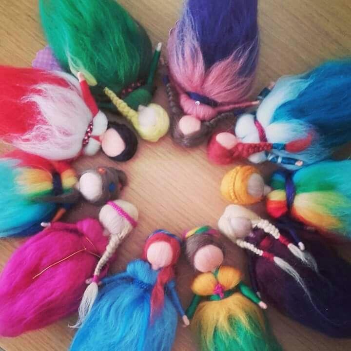Hadas de lana cardada para el Mercadillo 2016