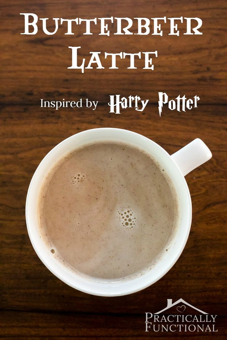 Harry Potter inspired butterbeer latte recipe.