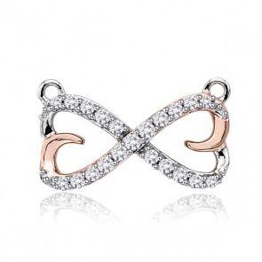 Złoty wisiorek z diamentami kokardka - Biżuteria srebrna dla każdego tania w sklepie internetowym Silvea