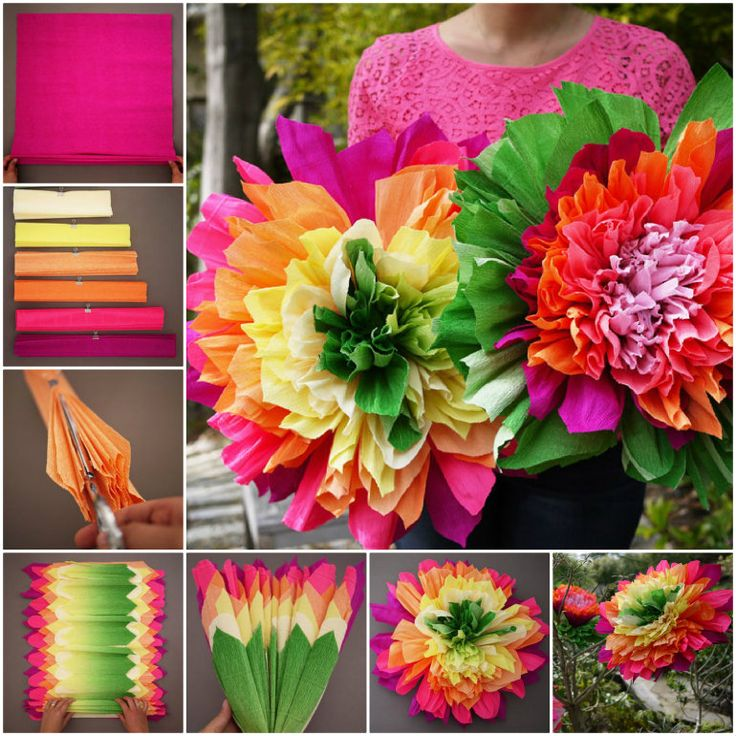 How to put together paper crepe flowers diy crepe diy ...
