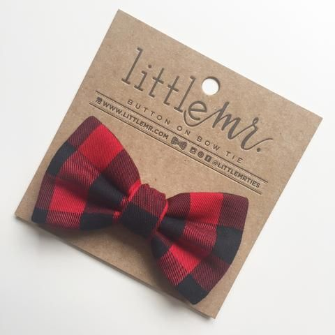 Buffalo Plaid Baby & Toddler Bow Tie