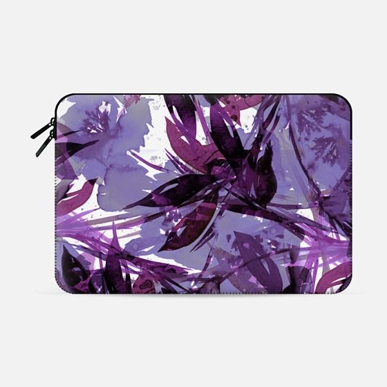 """FLORAL FIESTA, PURPLE MULTI"" by Artist Julia Di Sano, Ebi Emporium on @casetify  Colorful Lavender Plum Watercolor Flowers Painting Fresh Art Abstract Whimsical Tropical Garden Botanical Lovely Brushstrokes Nature Leaves Petals Design #lavender #purple #floral #flowers #summer #tech #macbook #macbookcase #macbooksleeve #Casetify #proretina #macbookair #macbookpro #tropical #watercolor"