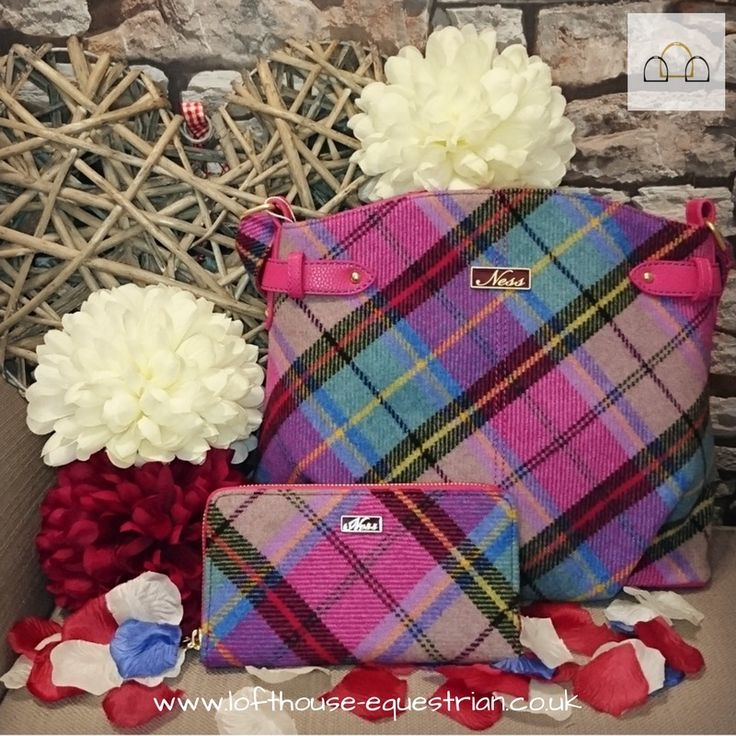 Why bled in when you can stand out with this gorgeous country tweed handbag in bright check from Scottish brand Ness!  #love #loftyequestrian #handbag #handbagforsale