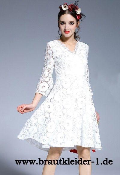 Weißes Standesamt Kleid aus Spitze