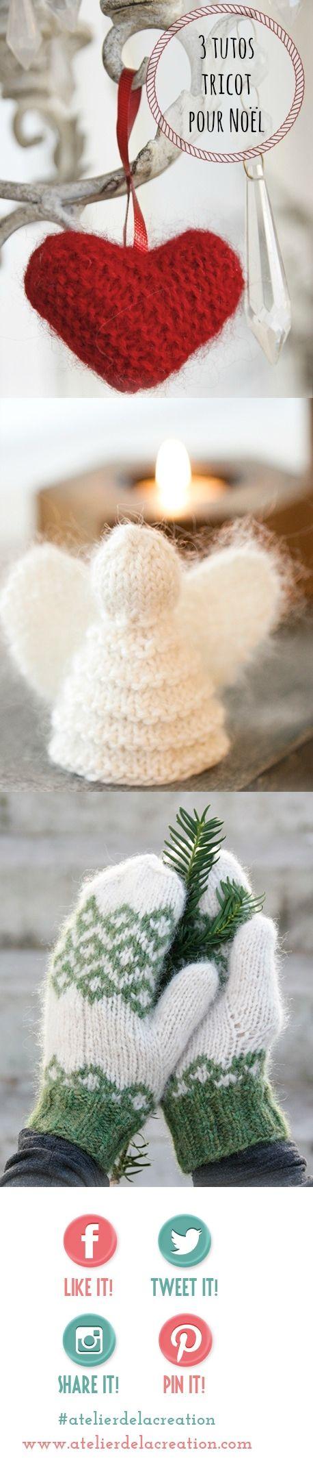 3 modèles gratuits pour noel en tricot laine drops - Blog de l'Atelier de la Création