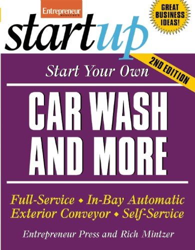 Americans love their cars. They spend billions of dollars to maintain them and this tender loving care includes keeping them spick-and-span. With no inventory and no costly labor, a car wash is one of the most stable and profitable businesses you can start. In this book, industry experts walk you through the four most popular types of car washes full-service, in-bay automatic, exterior conveyer and self-service and reveal the pros and cons of each