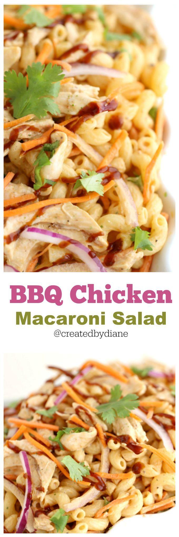 bbq chicken macaroni salad from /createdbydiane/