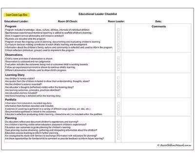 Educational Leader Checklist