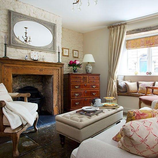 Living Room Flooring Pinterest: Neutral Living Room With Stone Flooring