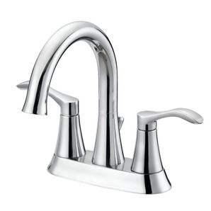 Chrome 2 Lever Handle Lavatory Faucet with Pop Up