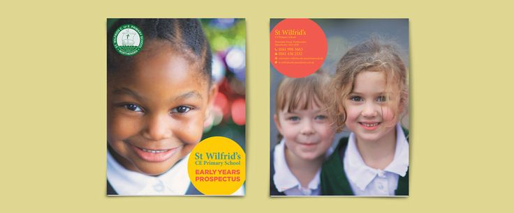 Early years prospectus design. St Wilfrid's CofE Aided Primary School is based in Northenden in Manchester, with a larger than average number of pupils . A change in leadership led to the Headteacher requiring new prospectuses for both the early years and main school. The school was in a process of overhauling its marketing literature, so we came on board at the right time!  We worked with photographer Paul Cliff to capture the essence of the school, its pupils and its staff, and used the…
