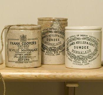 Vintage marmalade jars - a good excuse to make marmalade