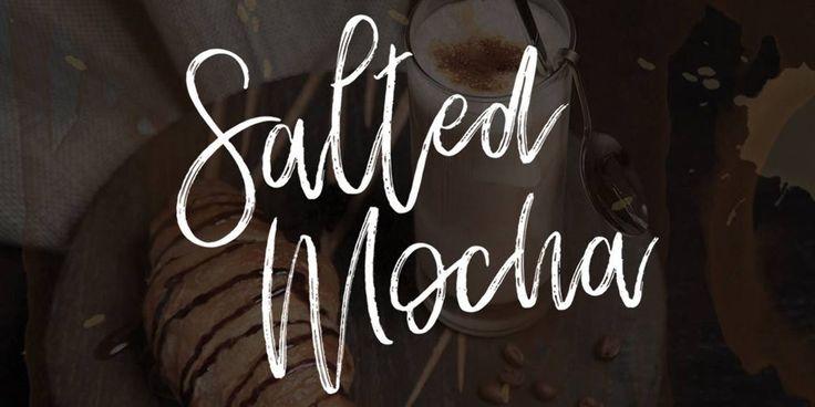 Salted Mocha Brush Font