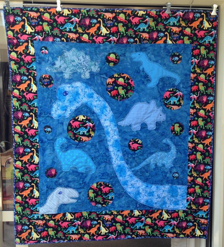 Front of Dino quilt for Cadey own design