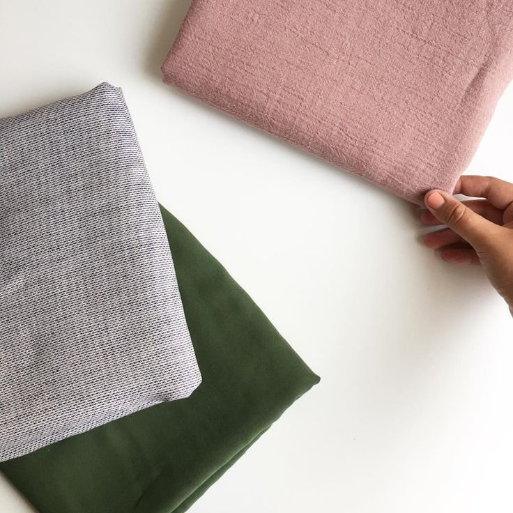 """30 Likes, 1 Comments - Blackbird Fabrics (@blackbirdfabrics) on Instagram: """"These fabrics together crinkle linen in dusty rose, tencel twill in moss, and dash linen.…"""""""
