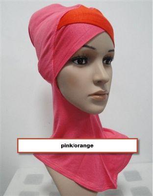 Color-Block *Two-Tone* Crossover Ninja Hijab Cap