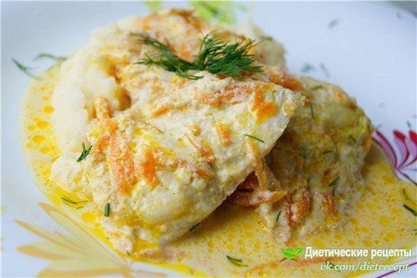 Pollack baked under creamy garlic sauce / Chief-Cooker