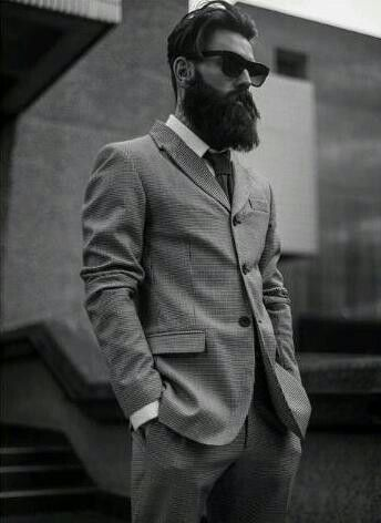 Stupendous 1000 Ideas About Beard Suit On Pinterest Beards Nick Wooster Short Hairstyles Gunalazisus