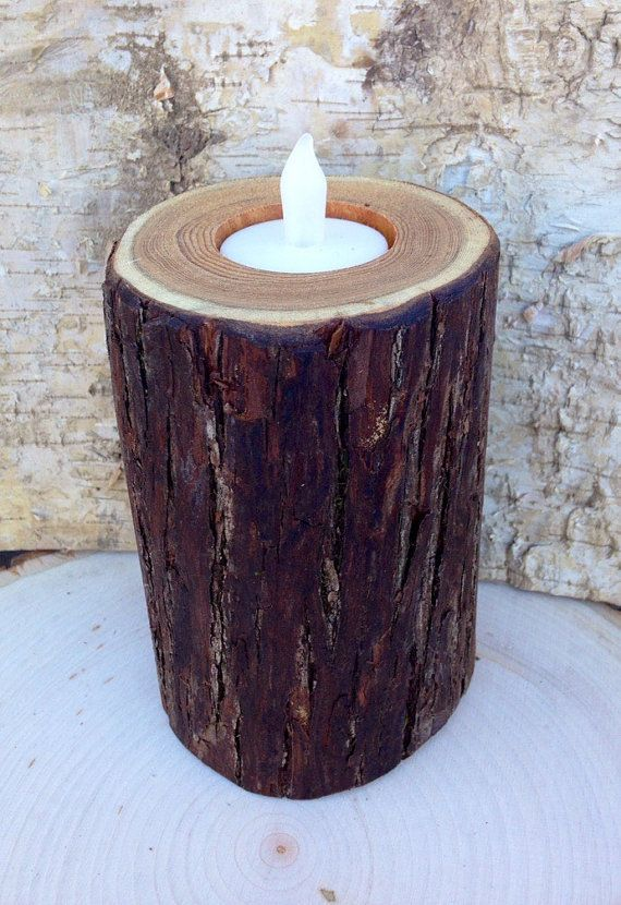 Rustic home decor Wood candle holders, Rustic wood candle holder, Rustic wedding, natural tree branch, Wood holder, Wooden candle holders