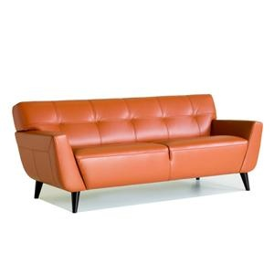 Nebraska Furniture Mart – Chateau D ax Leather Sofa in Tangerine- This couch is amazing!