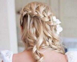 Waterfall braid with curly hair: Hair Ideas, French Braids, Waterfalls Braids, Wedding Hair, Waterf Braids, Bridesmaid Hair, Prom Hair, Hairstyle, Hair Style